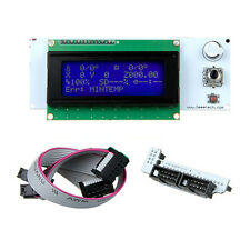 Blue LCD 2004 controller display 20*4 characters & smart Adaptor for RAMPS 1.4