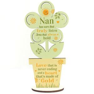 Nan Gifts Wooden Flower Nan Birthday Gifts From Grandchildren Grandparent Gifts