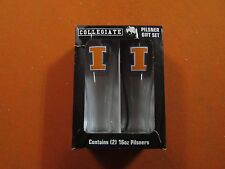 Set of 2 University of Illinois 16 oz. pilsner gift set