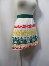Vintage Apron Ugly Christmas Sweater Knit Hostess Novelty Yule Noel Party Retro