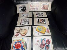 THE BEATLES GB ROYAL MAIL 2007 COMPLETE RARE POSTCARDS (11) OF STAMPS SET MINT