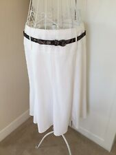 Marks and Spencer Cream Fit and Flare Jupe Avec Peau De Serpent Ceinture, Taille...
