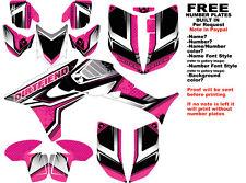 DFR FLOW GRAPHIC KIT PINK FULL WRAP 08-NEW HONDA TRX450R TRX 450 TRX450