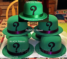 Cosplay Comic Con RIDDLER Green Velour coated DERBY HAT