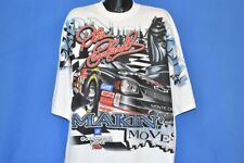 vtg 90s DALE EARNHARDT MAKIN MOVES CHESS BLACK KNIGHT t-shirt RACING NASCAR 3XL