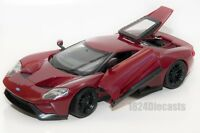 Ford GT 2017 red, Welly 24082, scale 1:24, model adult boy gift
