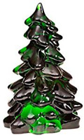 MOSSER GLASS CHRISTMAS TREE HUNTER GREEN 5.5  INCHES