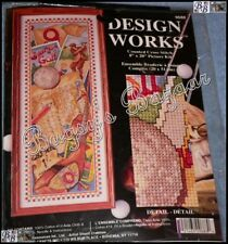 Design Works THE GAME OF GOLF Counted Cross Stitch Picture Kit –8 x 20- Crabtree
