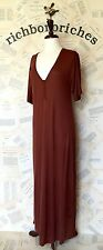 NWT Anthropologie Pure + Good rust brown Modal T Shirt Short Sleeve Maxi Dress L