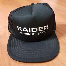 Vintage Trucker Hat Cap Raider Aluminum Boats Black (Snapback) Unisex