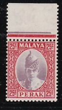 Album Treasures Malaya Perak Scott # 92  25c  Sultan Iskandar  Mint NH