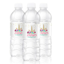 10 Unicorn Birthday Party Favors Personalized Water Bottle Labels