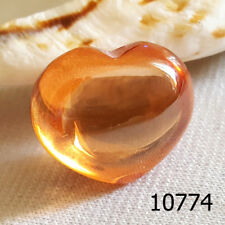 Holy HEART Orange Yellow Colors Lucky Gem Stone Naga Eye Thai Amulet #10774a
