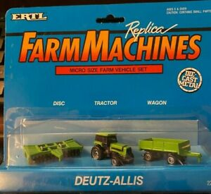 Ertl Farm Machines Deutz Allis Microsize Farm Set NEW in the Box #2221