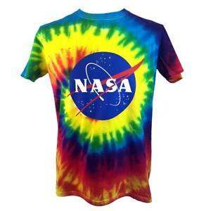 NASA Tie Dye Colour T-Shirt - Official NASA Logo