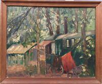 Impressionist Berend Groeneveld 1866 - 1941 Niederlande Reisende mit Wagen