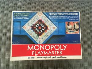 Rare 1982 Monopoly Playmaster TESTED--WORKS Parker Brothers Accessory Fast Paced