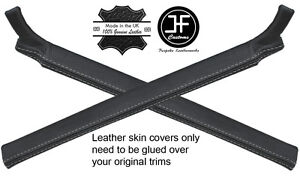 GREY STITCH 2X A PILLAR LEATHER COVERS FITS LAND ROVER DEFENDER 90 110 07-16