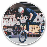 2 x Vinyl Stickers 7.5cm - BMX Bike Stunt Cool Sports Cool Gift #2352