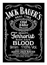 Jack Bauer's 24 - Typography quote Decorative Vinyl Wall Sticker