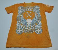 Xzavier Mens Size Medium Orange & Blue Truth Faith T Shirt New With Defect