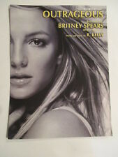 Britney Spears Outrageous US Sheet Music words and music by R. KELLY