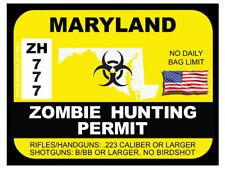 Maryland Zombie Hunting Permit  (Bumper Sticker)