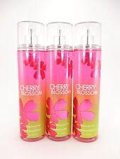 Bath Body Works 3 Cherry Blossom Fragrance Mist Body Splash Spray 8oz Full Size
