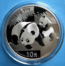 1oz bzw. 30g Panda 1990 - 2020 China 10 Yuan 999/1000 ag Silber + Zubehör