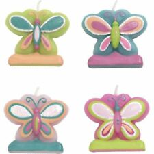 BUTTERFLY CANDLES Party Cake Decorations Celebrate Happy Birthday          7-8C