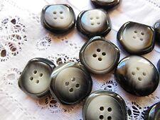 lot 10  boutons gris noir diamètre: 1,8 cm mercerie couture ref 182