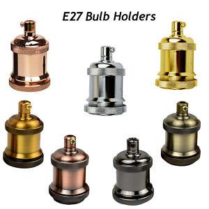 Vintage Industrial Light Bulb Holder Antique Retro Lamp Edison ES E27 Fitting
