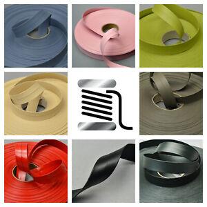 20mm Italian Faux Leather Flat Folded Ribbon Trimming Tape Strap PU Vegan