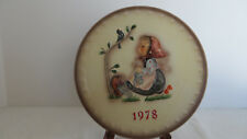 M.I. Hummel Annual Plate 1978 Happy Pastime