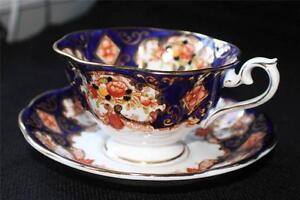 Vintage ROYAL ALBERT Bone China England HEIRLOOM Pattern #4534 Cup & Saucer