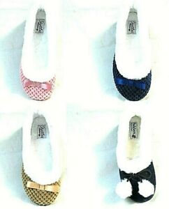 LADIES NEW GOOD QUALITY FULL SLIPPERS SLIP ON HOUSE SHOES SIZE 3 AND 4