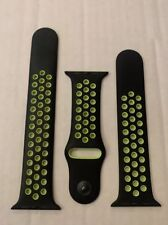 Genuine Apple Watch Nike Sport Band - 42mm / 44mm - Nike Black / Volt