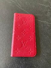 AUTHENTIC LOUIS VUITTON Monogram Scarlet iPhone X/XS Folio Case