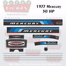 1977 Mercury 50 HP Outboard Reproduction 12 Piece Marine Vinyl Decal 500