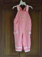 Cradle Togs, vintage pink embroidered rompers/overalls, size 24 months