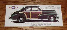1946 1947 1948 Chevrolet Custom Country Club Sales Brochure 46 47 48 Chevy