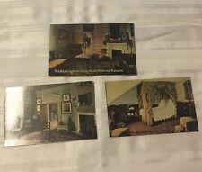 JE043 Antique lot 3 picture postcard Martha Washington Parlor Mt Vernon  VA