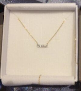 Designer Alkemistry Exquisite Yellow Gold Diamond Necklace With Diamond Bar
