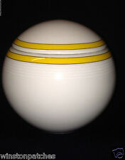 STUDIO NOVA MIKASA CAFE CLASSIC'S YELLOW SUGAR BOWL WHITE WITH YELLOW BAND