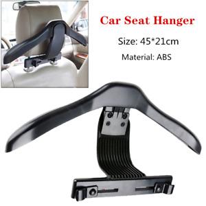 1PC Black ABS Car Seat Headrest Jacket Coat Suit Clothes Hanger Holder Universal