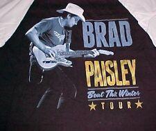 Brad Paisley Beat This Winter Tour 2014 Black Baseball Style 3/4 Sleeve Shirt