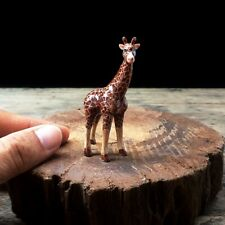 New Giraffe Dollhouse Miniature Ceramic Figurine Hand Painted Cute Gift Charm