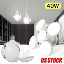 40W E27 LED Ceiling Garage Light Bulb Workshop Deformable Football UFO Lamp