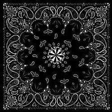 Bandanna Zan Headgear Paisley Black B001