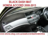 DASH MAT,BLACK DASHMAT, DASHBOARD COVER FIT HONDA ACCORD 2008-2013, BLACK